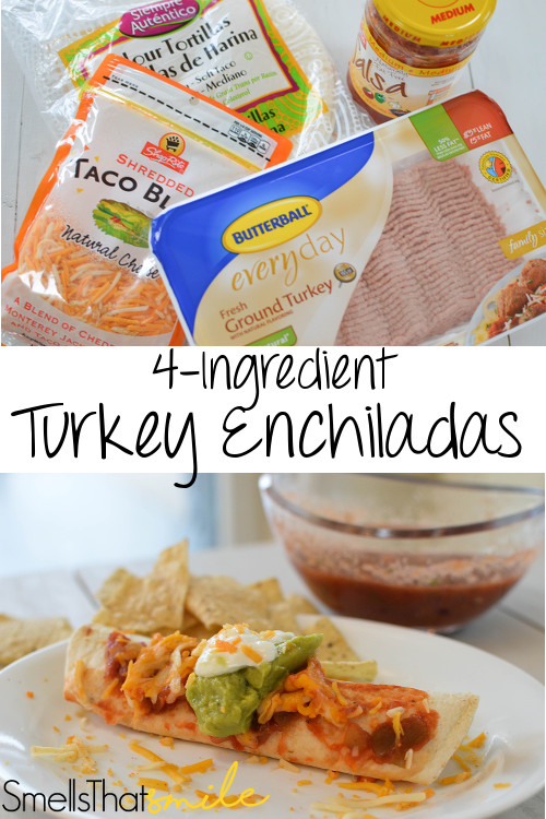 4-Ingredient Turkey Enchiladas