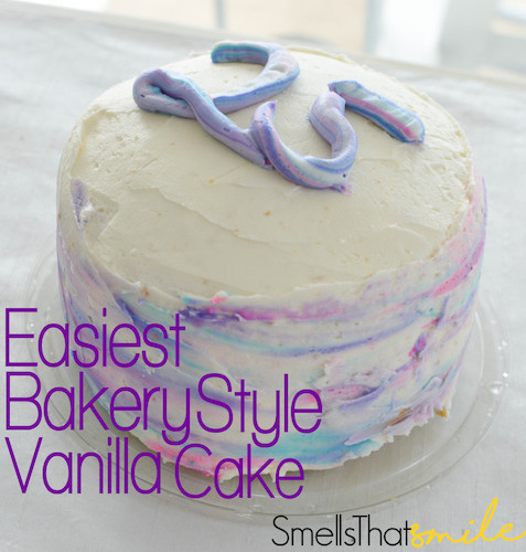 Make a Cake Look and Taste Like Bakery- Vanilla