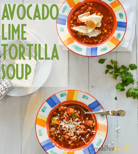 Avocado Lime Tortilla Soup